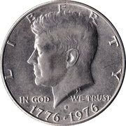 "½ Dollar ""Kennedy Half Dollar"" (Bicentennial) -  obverse"