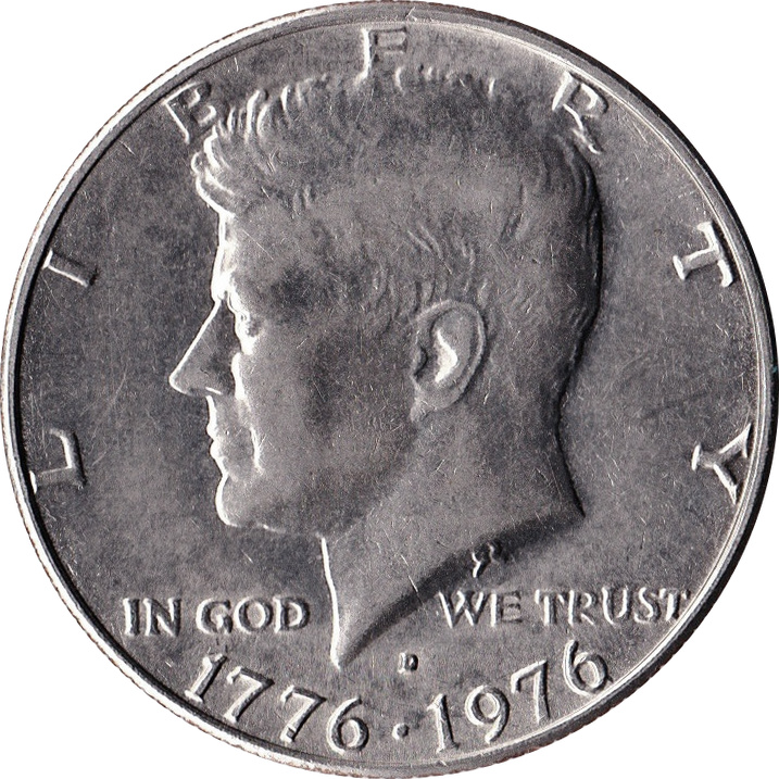 1776-1976-S Kennedy Independence Hall Commem Proof Clad Half Dollar Roll of 20