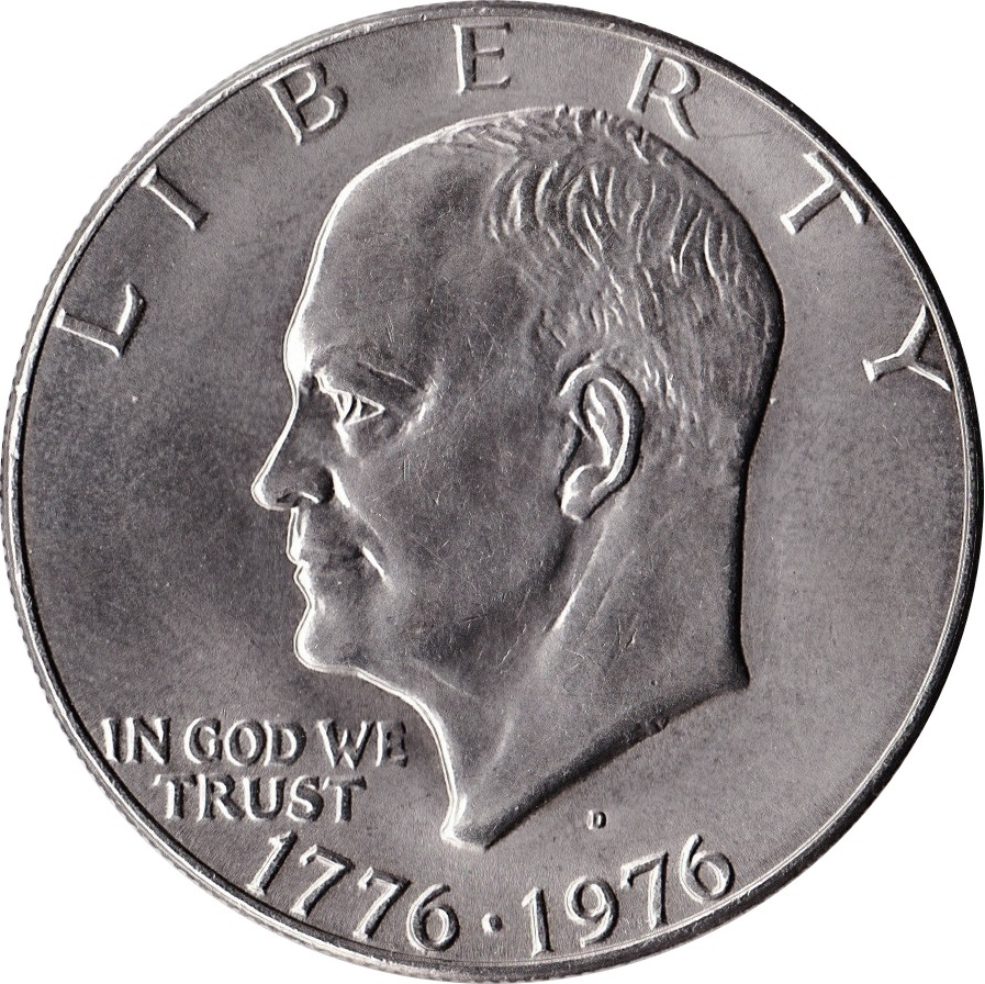 1976 S SILVER Eisenhower Dollar PROOF Ike $1 Bicentennial One Dollar Ike Coin