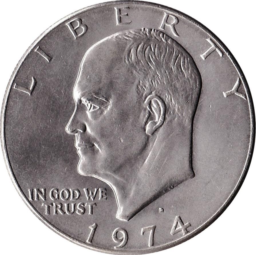 1 Dollar Quot Eisenhower Dollar Quot United States Numista