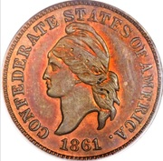 1 Cent (Haseltine Restrike, Copper) – obverse
