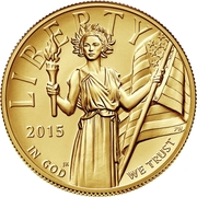 "100 Dollars (""American Liberty High Relief Gold"") – obverse"