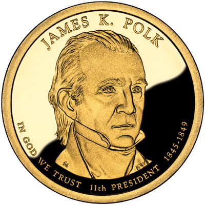 1 dollar james k polk united states numista