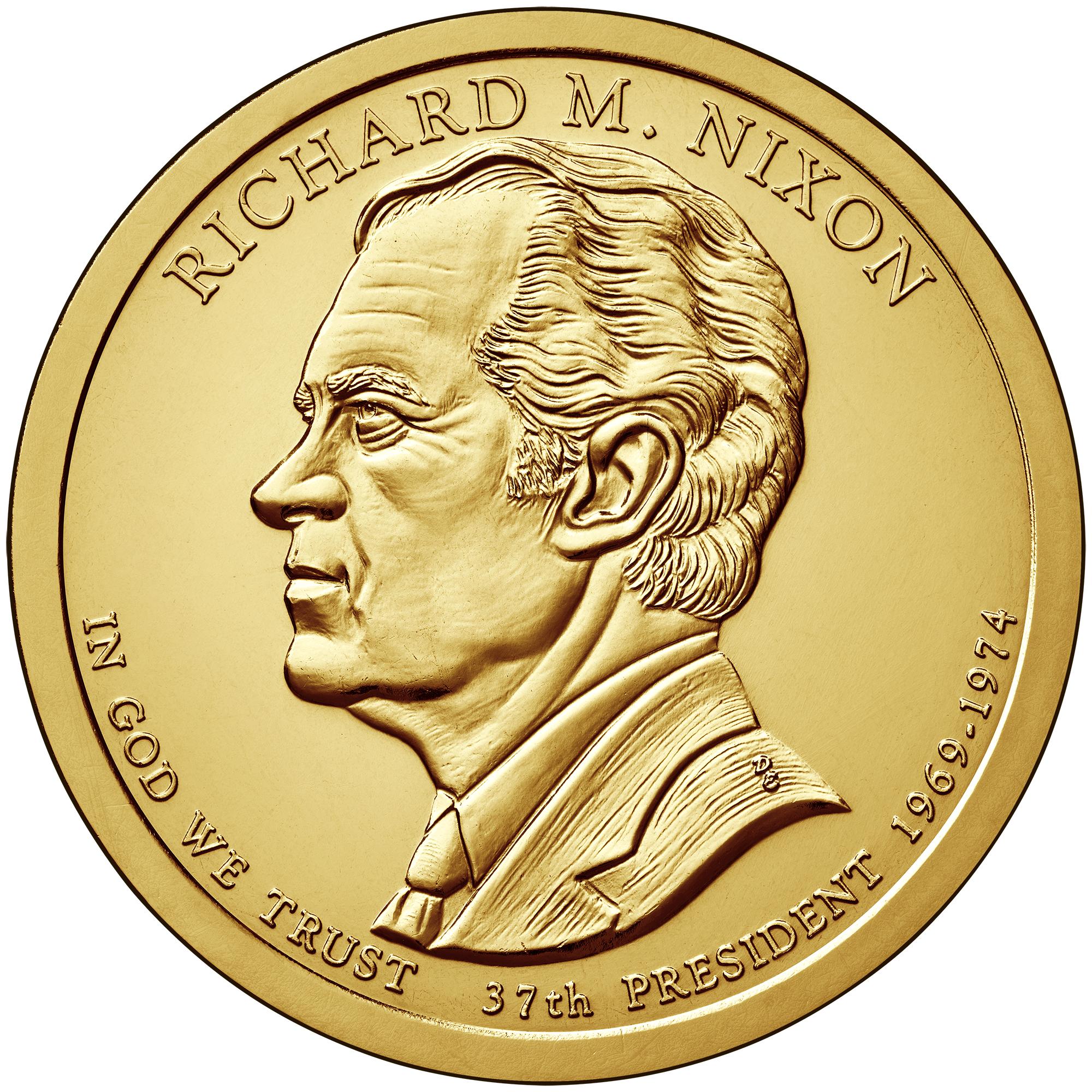 2016 S, P, P, D, D Nixon $1 Golden Dollar 5-coin Set
