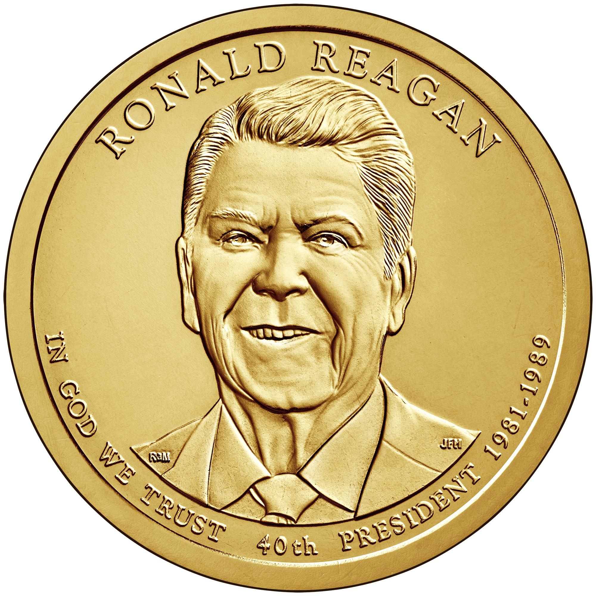 2016-D Ronald Reagan Presidential Dollars positions A /& B 2 coins!