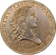 """1 Cent """"1792 Birch Cent"""" (Pattern) – obverse"""