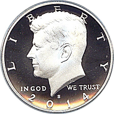 50th Anniversary *SPECIAL 50 YEAR LOGO* 2014 JFK Kennedy Half Dollar US Coin D