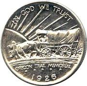 ½ Dollar (Oregon Trail Memorial) -  obverse