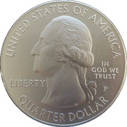 "¼ Dollar ""Washington Quarter"" (Blue Ridge Parkway, North Carolina - Silver 5oz Bullion) -  obverse"
