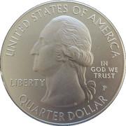 "¼ Dollar ""Washington Quarter"" (Blue Ridge Parkway, North Carolina - Silver 5oz Bullion) -  obverse"