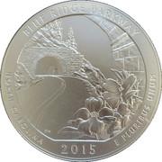 "¼ Dollar ""Washington Quarter"" (Blue Ridge Parkway, North Carolina - Silver 5oz Bullion) -  reverse"