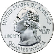 "¼ Dollar ""Washington Quarter"" (Yosemite National Park - Silver 5oz Bullion) -  obverse"
