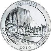 "¼ Dollar ""Washington Quarter"" (Yosemite National Park - Silver 5oz Bullion) -  reverse"