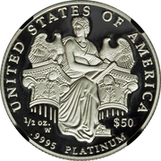 "50 Dollars ""American Platinum Eagle"" (Bullion Coinage) -  reverse"