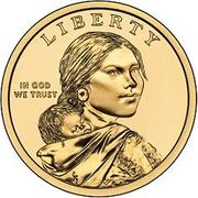 "1 Dollar ""Native American Dollar"" (Wampanoag Treaty) -  obverse"