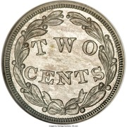 "2 Cents ""1836"" (Pattern; white metal) – reverse"