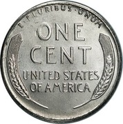 "1 Cent ""Steel Cent"" – reverse"