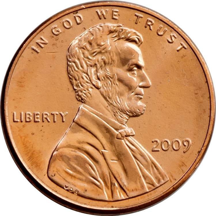 """2009 US Gold Plated Bicentennial Lincoln Penny Version 2 of 4 /""""Formative Years/"""""""