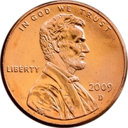 "1 Cent ""Lincoln Cent"" (Birth and Early Childhood) -  obverse"