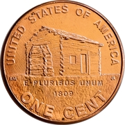 "1 Cent ""Lincoln Cent"" (Birth and Early Childhood) -  reverse"
