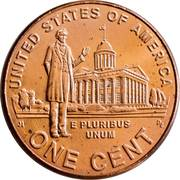 """1 Cent """"Lincoln Cent"""" (Professional Life) – reverse"""