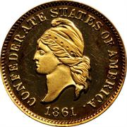 1 Cent (Haseltine Restrike, Gold) -  obverse