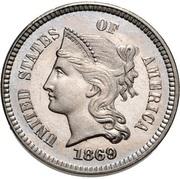 "1 Cent ""1869""(Pattern) – obverse"