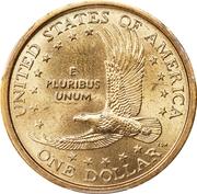 "1 Dollar ""Sacagawea Dollar"" -  reverse"