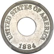 """1 Cent """"1884"""" (Pattern; nickel) – obverse"""