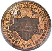 """1 Cent """"1896"""" (Pattern; bronze) – obverse"""