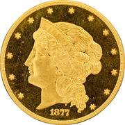 """50 Dollars """"1877"""" (Pattern; gold) -  obverse"""