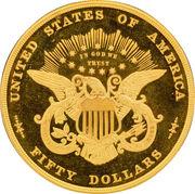 "50 Dollars ""1877"" (Pattern; gold) -  reverse"