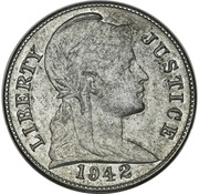 "1 Cent ""1942"" (Pattern) – obverse"