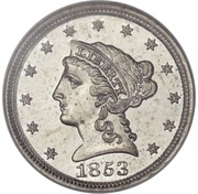 "1 Cent ""1853"" (Pattern) – obverse"