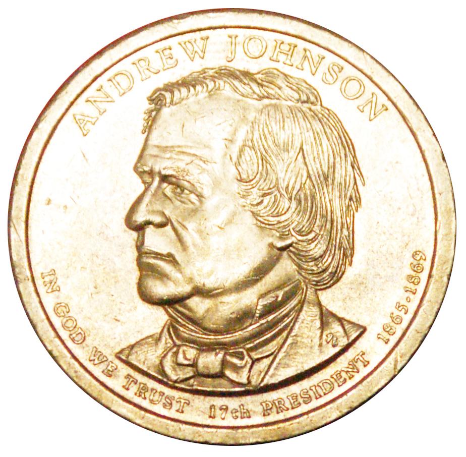 andrew johnson dollar coin