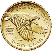 "10 Dollars ""American Liberty"" Bullion Coinage -  reverse"