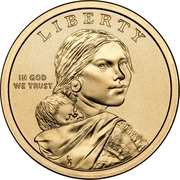 "1 Dollar ""Native American Dollar"" (Great Law of Peace) -  obverse"