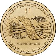 """1 Dollar """"Native American Dollar"""" (Government—The Great Tree of Peace) -  reverse"""