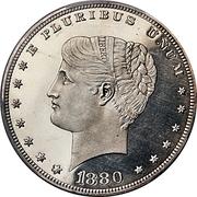 "1 Dollar ""1880 Goloid Metric Dollar"" (Pattern) -  obverse"