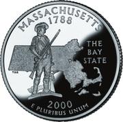"¼ Dollar ""Washington Quarter"" (Massachusetts - Silver Proof) -  reverse"