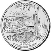 """¼ Dollar """"Washington Quarter"""" (Arizona) -  reverse"""