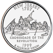 "¼ Dollar ""Washington Quarter"" (New Jersey) -  reverse"