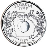 "¼ Dollar ""Washington Quarter"" (Georgia) -  reverse"