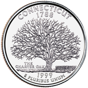 "¼ Dollar ""Washington Quarter"" (Connecticut) -  reverse"