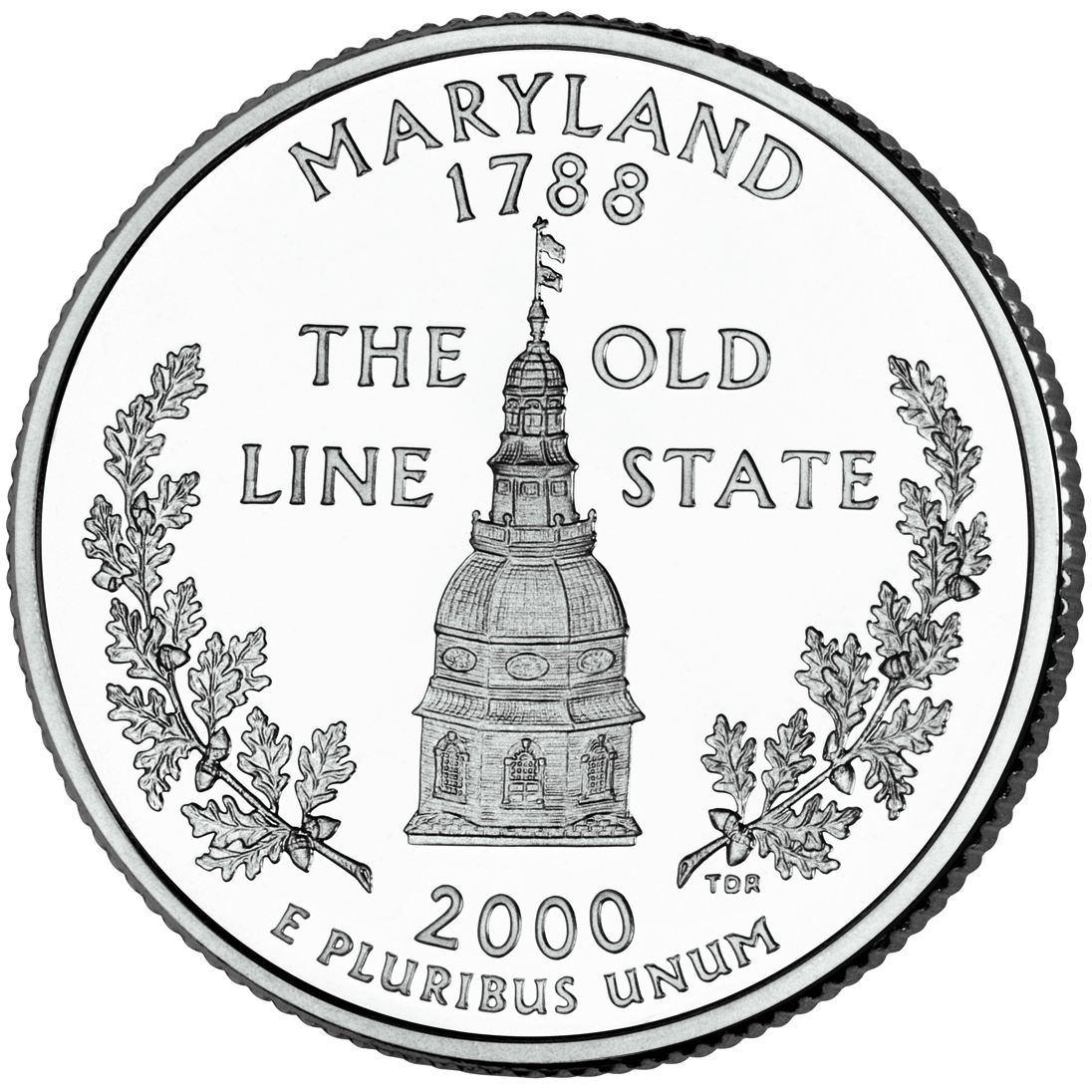 2000 US Quarter Dome of the Maryland State House coin 25 cents