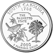 "¼ Dollar ""Washington Quarter"" (South Carolina) – reverse"