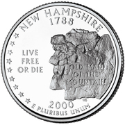 "¼ Dollar ""Washington Quarter"" (New Hampshire) -  reverse"