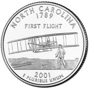 """¼ Dollar """"Washington Quarter"""" (North Carolina) – reverse"""