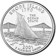 "¼ Dollar ""Washington Quarter"" (Rhode Island) – reverse"