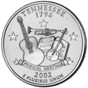 "¼ Dollar ""Washington Quarter"" (Tennessee) -  reverse"